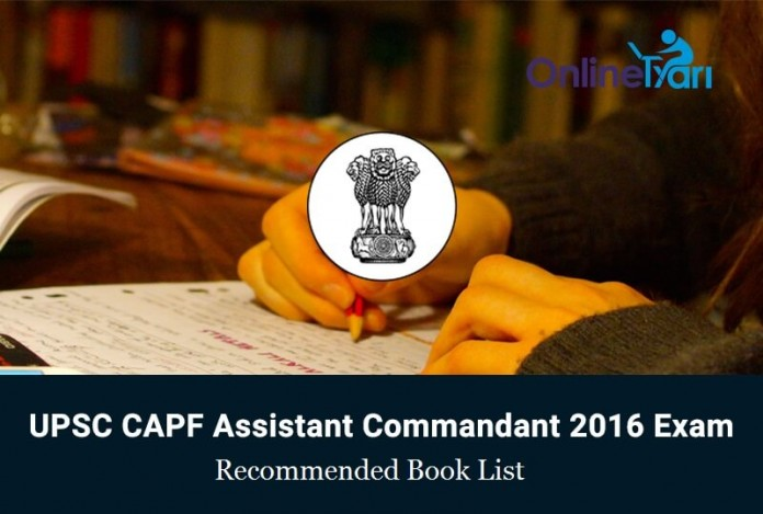 UPSC-CAPF-Assistant-Recommended-Book-List