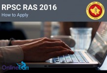 RPSC RAS 2016 How to Apply