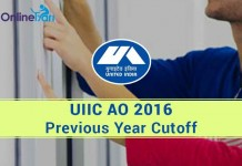 UIIC AO Previous Year Cutoff Sectional and Overall