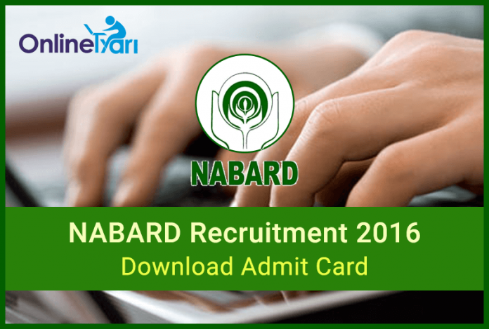 NABARD Admit Card Call Letter for Phase II Mains Examination