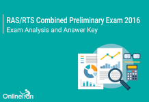 RPSC RAS Prelims Exam Analysis, Answer Key 2016