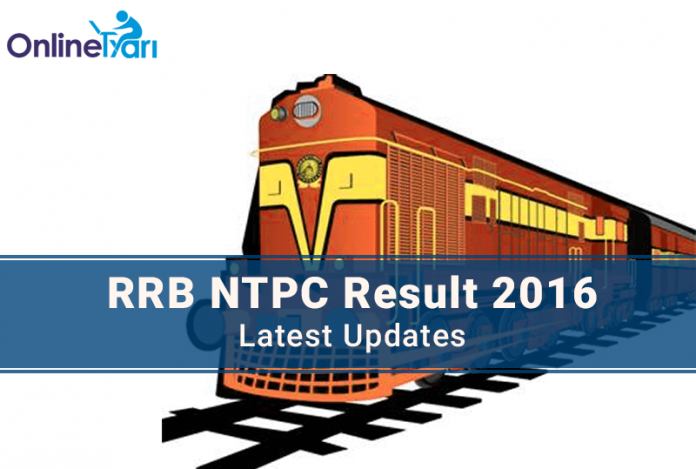 RRB NTPC Result Date 2016