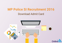 MP Police SI Admit Card 2016   Download Call Letter