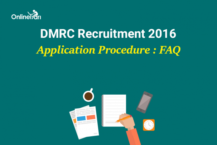 DMRC Recruitment 2016 Application Form Mistakes, Errors
