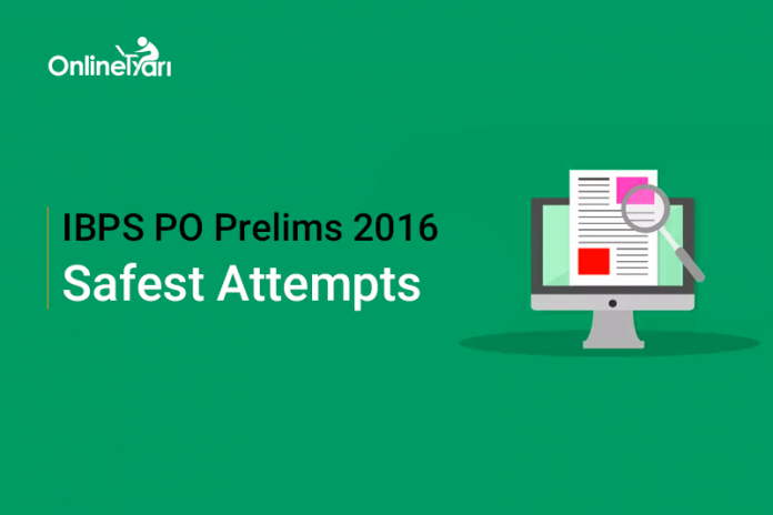 Expected Safe Attempts in IBPS PO Prelims 2016