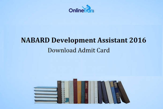 NABARD Development Assistant Admit Card 2016