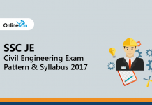 SSC JE Civil Engineering Exam Pattern & Syllabus 2017