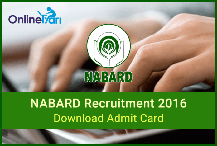 NABARD Development Assistant Mains Admit Card: Download Now