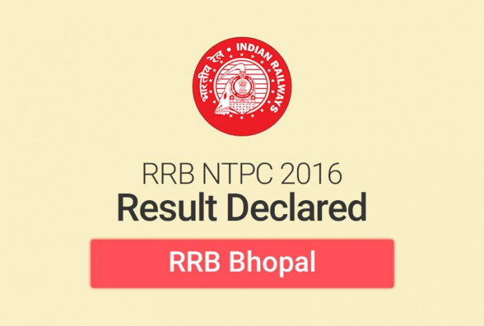 RRB NTPC Result 2016 for Bhopal: Check Merit List