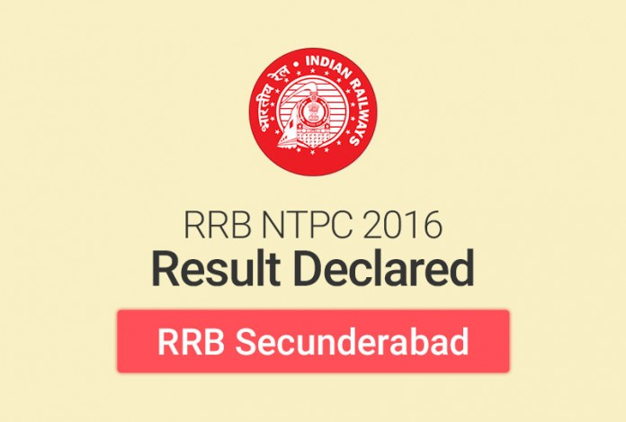 RRB NTPC Result 2016 for Secunderabad: Check Merit List
