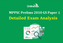 MPPSC Prelims 2010: General Studies Paper 1 Detailed Analysis