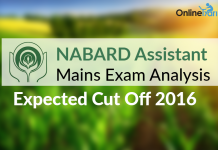NABARD Assistant Mains Exam Analysis, Expected Cut Off 2016