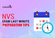 Navodaya Vidyalaya NVS Exam Last Minute Preparation Tips