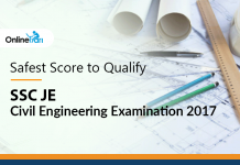 Safest Score to Qualify SSC JE Civil Engineering Examination 2017
