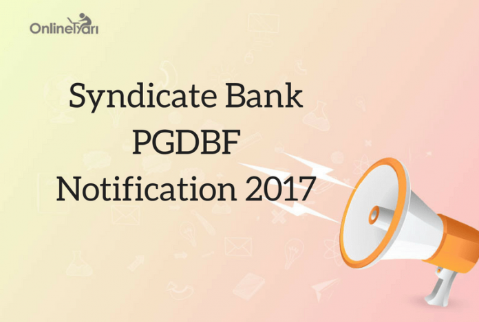 Syndicate Bank PO Recruitment 2017
