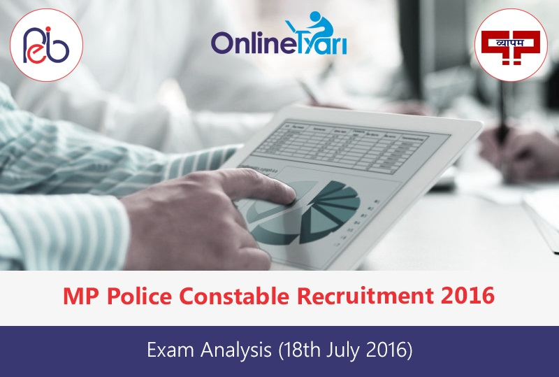 MP Police Constable Exam Analysis 18th July 2016