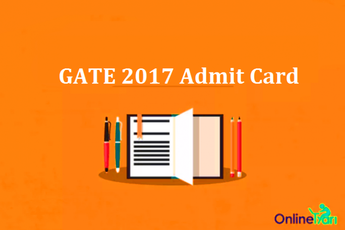 GATE 2017 Admit Card Out: Download Hall Ticket Now
