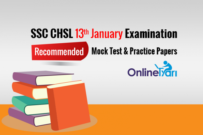 SSC CHSL 13th Jan Mock Test