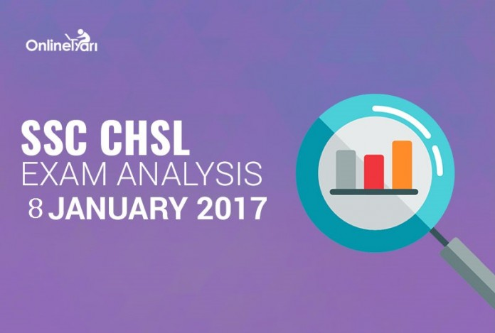 SSC CHSL Exam Analysis: 8 January 2017 (All Shifts)