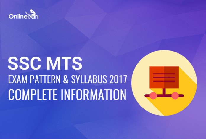 SSC MTS Syllabus Exam Pattern and Structure 2017