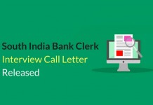South Indian Bank Clerk Interview Call Letter Released - Download Now