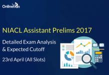 NIACL Assistant Prelims Exam Analysis, Expected Cutoff: 23 April 2017