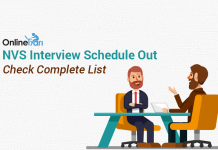 NVS Interview Schedule Out: Check Complete List Here
