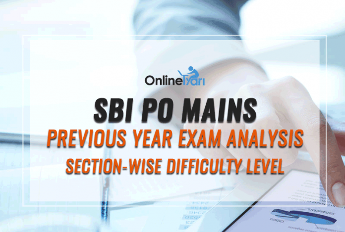 SBI PO Mains Previous Year Exam Analysis, Section-Wise Difficulty Level