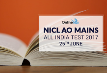 NICL AO Mains All India Test (AIT)|25th June 2017: Register Now