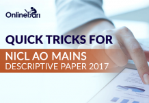 Quick Tricks for NICL AO Mains Descriptive Paper 2017