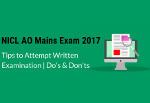 How to Attempt NICL AO Mains Exam 2017: Do's & Don't