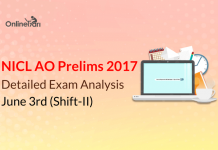 NICL AO Exam Analysis, Prelims Review: June 3rd 2017 (Shift 2)