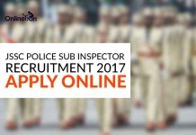JSSC Police Sub Inspector Recruitment 2017: Apply Online