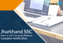 Jharkhand SSC Police SI 3019 Vacancies Released: Complete Notification