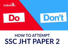 How to Attempt SSC JHT Paper 2: Do's & Don'ts
