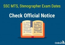 SSC MTS, Stenographer Exam Dates Out: Check Official notice