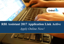 RBI Assistant 2017 Application Link Active: Apply Online Now!