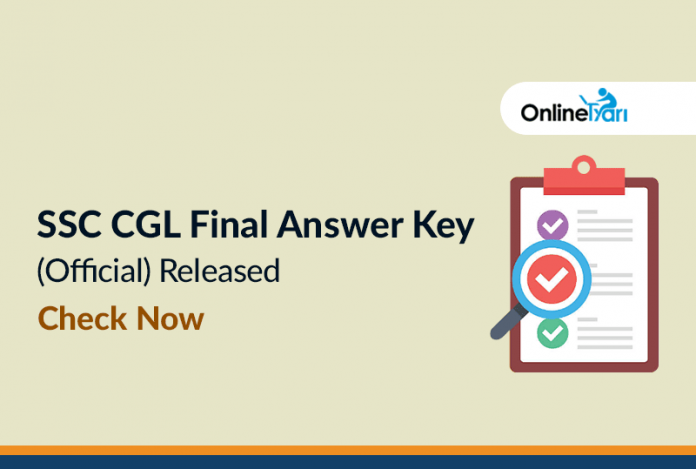 SSC CGL Final Answer Key (Official) Released: Check Now