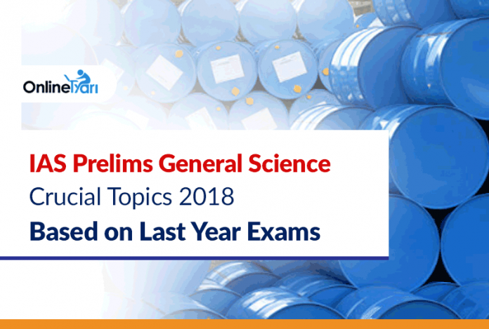 IAS Prelims 2018 Science Crucial Topics: Based on Last Year Exams