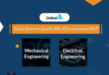 Safest Score to Qualify SSC JE Mechanical/ Electrical Engineering Exam