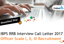 IBPS RRB Interview Call Letter for Officer Scale I, II, III Recruitment