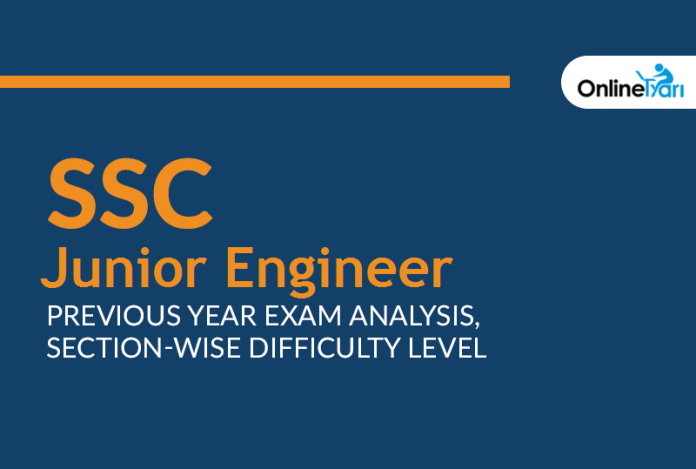 SSC JE Previous Year Exam Analysis, Section-Wise Difficulty Level