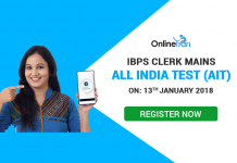 IBPS Clerk Mains 2017 All India Test (AIT) | 13th January: Register Now
