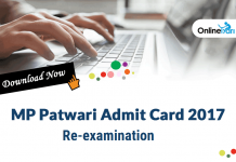 MP Patwari Re-Exam 2017: Download Admit Card/ Hall Ticket