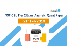 SSC CGL Tier 2 Exam Analysis, Quant Paper: 21st Feb 2018