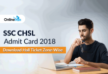 SSC CHSL Admit Card 2018: Download Hall Ticket Zone-Wise
