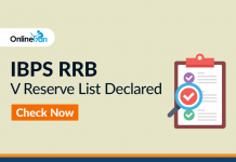 IBPS RRB V Reserve List Declared: Check Now!
