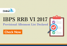 IBPS RRB VI 2017 Provisional Allotment List Declared