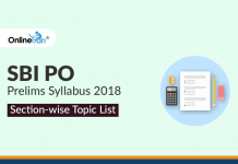 SBI PO Prelims Syllabus 2018: Section-wise Topic List