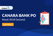 Canara Bank PO Result 2018 Declared: Check Here